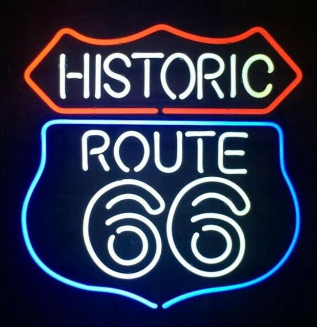 Custom ROUTE 66 Neon Light Sign Beer Bar
