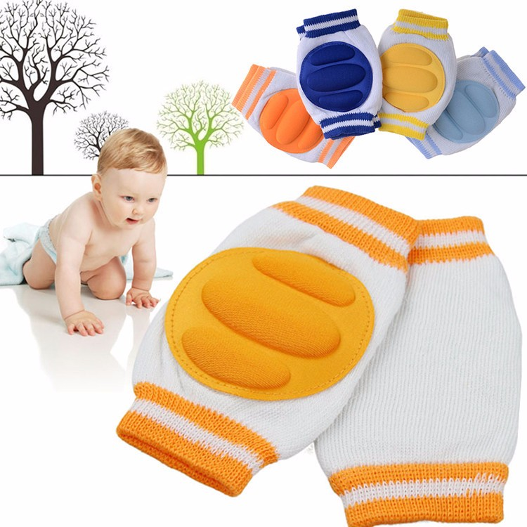 2Pcs/1Pair Baby Kneepad Cozy Cotton Breathable Sponge Children Knee Pads Doll Learn To Walk Best Protection Send Random Color