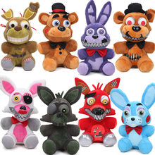 Yeni 25cm FNAF kabus Freddy ayı Foxy Springtrap Bonnie peluş oyuncaklar beş Nights freddy'nin oyuncak yumuşak doldurulmuş hayvan bebek