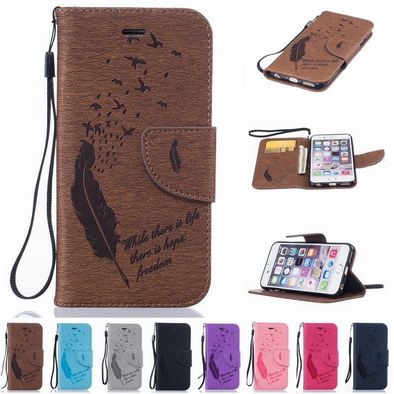Phone Cases For iPhone 5 6 7 Flip Cover Case Magnetic Leather Holster For Apple iPhone 6 7 6s Plus 5 5s SE Phone Shell Capa