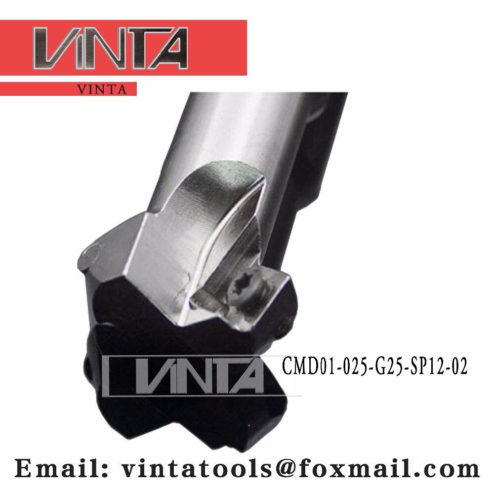 Livraison gratuite CMD01-025-G25-SP12-02 chanfrein outils de fraisage pour Inserts SPMT120408