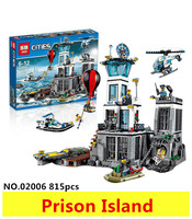 New Model Building Kits Compatible With Lego City Series Prison Island 815pcs 3D Blocks Educational Toys