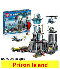 Models building toy 02006 815pcs Building Blocks Compatible with lego 60130 City Series The Prison Island toys & hobbies gift