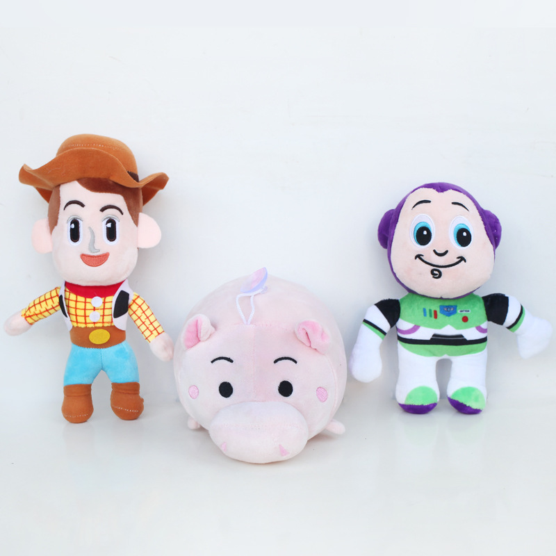 Toy Story Plush Toys 20cm Cute Woody & Buzz Lightyear & Hamm Pig Stuffed Plush Toys Doll Soft Toy for Kids Children Gifts