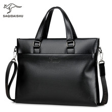 hot deal buy 2018 new fashion casual business men briefcases luxury brand high quality pu waterproof wearproof male shoulder bag briefcases