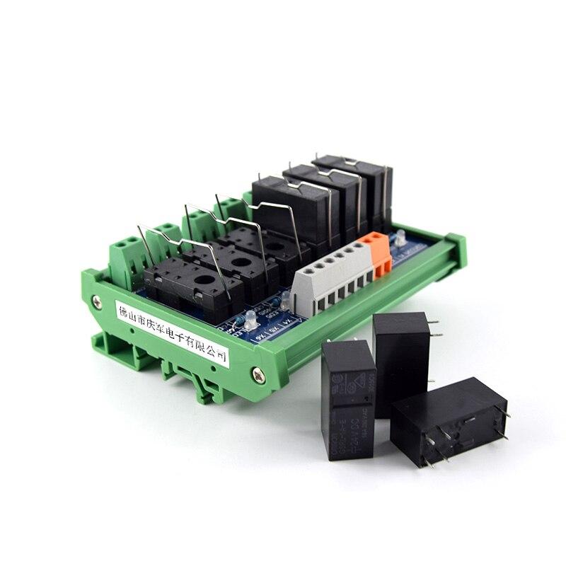 6-way original Omron relay module, 6-pin single-open single-chip control board PLC amplifier board drive control board 8 way relay module module plc amplifier board drive control board dc 12v npn