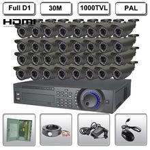 32CH Realtime Community HDMI Safety D1 DVR Surveillance System 1000TVL IR Digicam