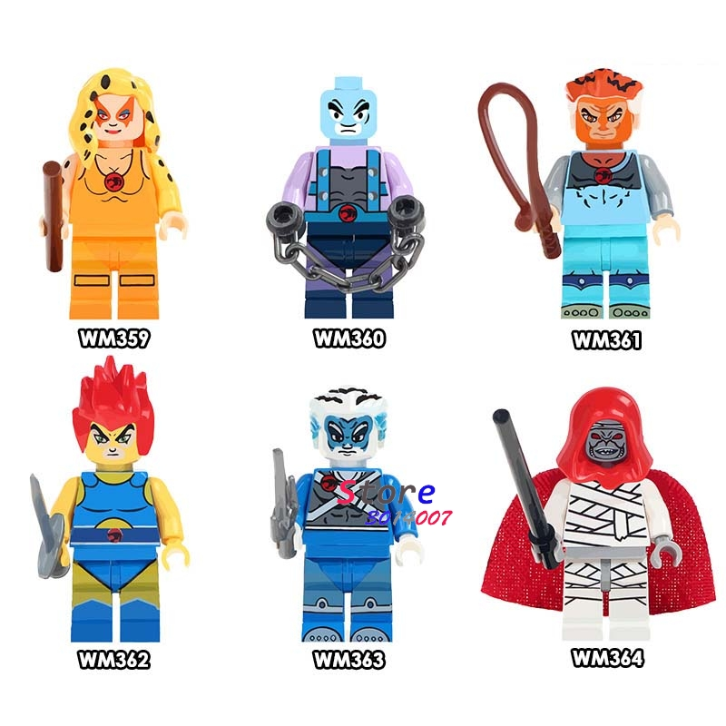 50pcs American TV Movie Cheetara Lion O Mumm Ra Thundercats Pantro Tigro Bengali building blocks bricks