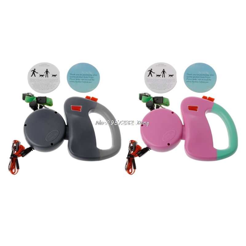 Auto Retractable Double-Headed Dog Leash Walking Lead 3M Pulling Training Rope CHE9