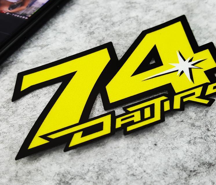 Новинка! Стикеры автоспорта daijiro Katoh № 74 для мото rcycle шлемы гоночная наклейка Мотокросс автомобиль грузовик мото наклейки