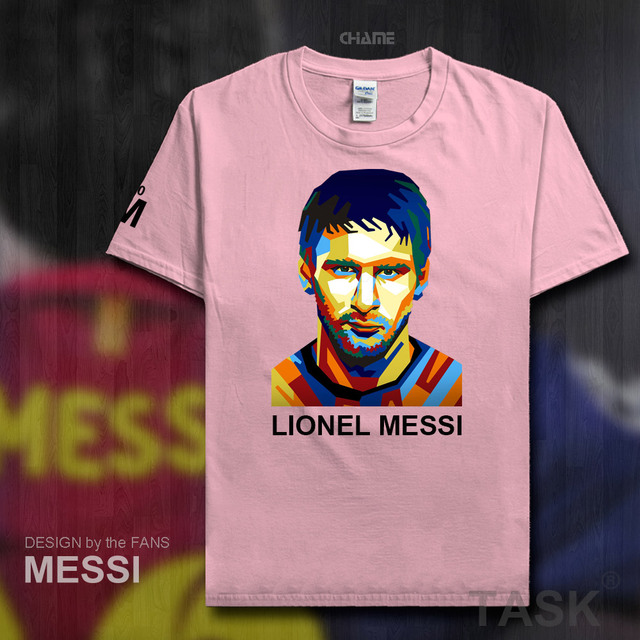 ab04587cce6 2017 New Summer Men s T-shirt MESSI Barcelona Printing T Shirts Casual Tops  Tee Boys Fans Shirt Argentina footballer star M10 04