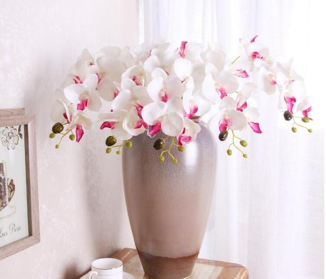 10pcs orchid artificial flowers diy artificial butterfly orchid silk 10pcs orchid artificial flowers diy artificial butterfly orchid silk flower bouquet phalaenopsis home wedding decoration mightylinksfo