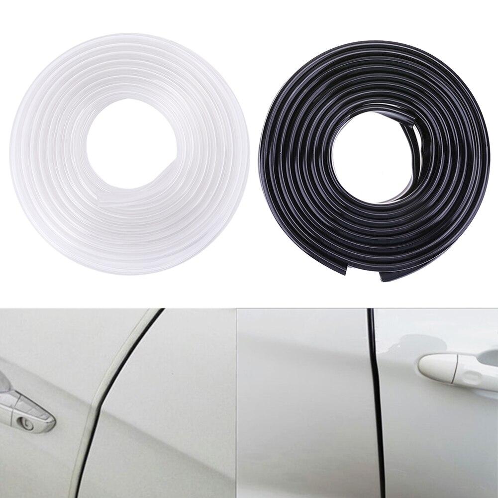 5.6m//18.37ft Car Chrome Body Strip Door Protective Edge Guard Rubber Sealing Universal Internal Decoration Auto Accessories