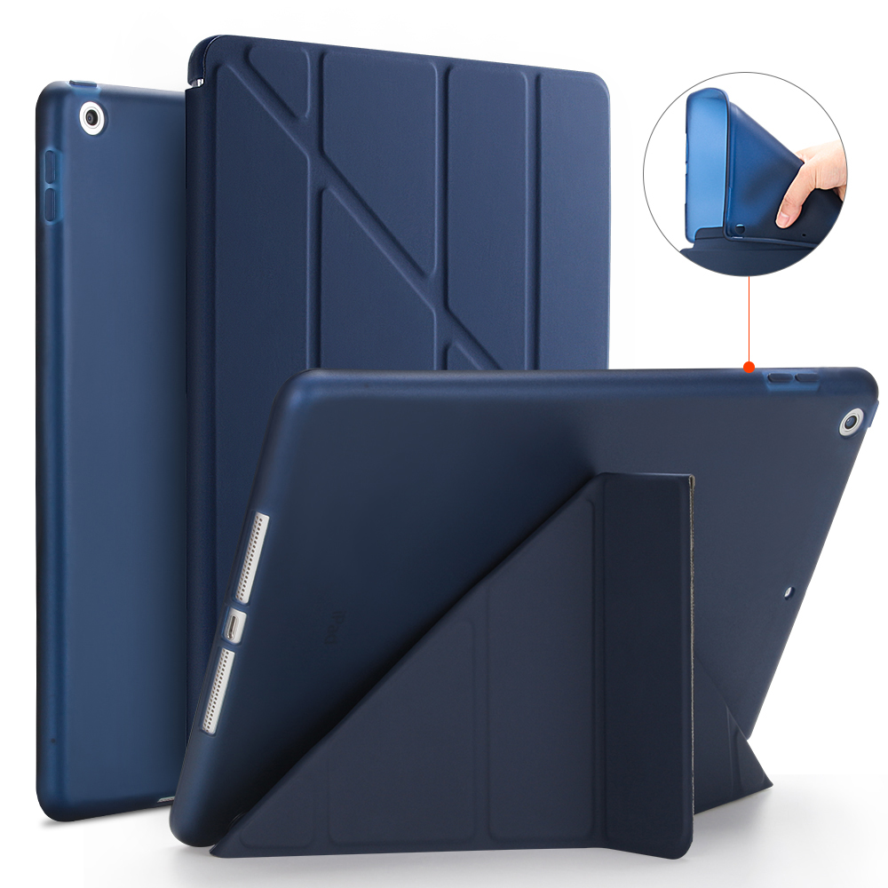 Smart Case For New iPad 9 7 2017 2018 Case PU Leather Silicone Soft Back Transformers