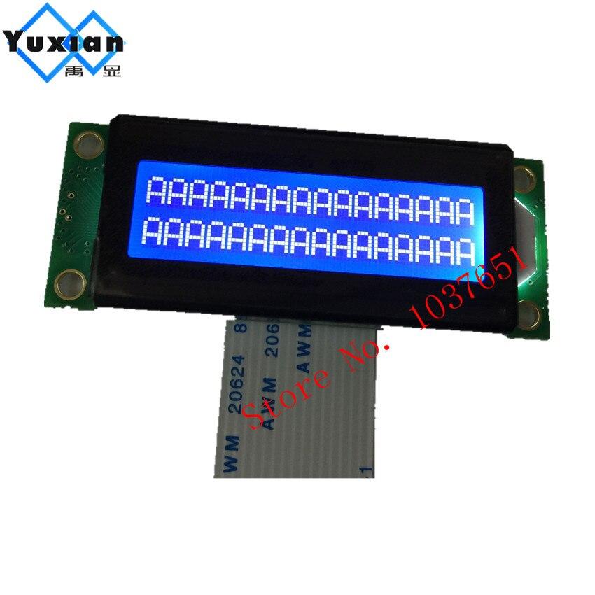 small mini size 1602 LCD display module blue 16x2 character LC1629BMDWH6-D HD44780 OM16213 FMA16213 LMB162XFW PC1602-Ksmall mini size 1602 LCD display module blue 16x2 character LC1629BMDWH6-D HD44780 OM16213 FMA16213 LMB162XFW PC1602-K
