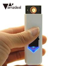 amzdeal New Portable Flameless Windproof Rechargeable USB Electronic Cigarette Tobacco Cigar USB Lighter No Gas/Fuel USB Gadgets