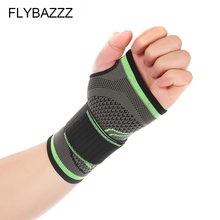 FLYBAZZZ 1PCS High Elastic Bandage Fitness Yoga Hand Palm Brace Wrist Support Crossfit Powerlifting Gym Pad Protector