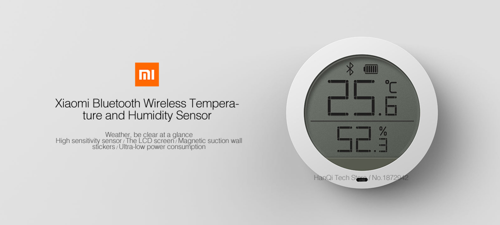 xioami bluetooth temperature sensor