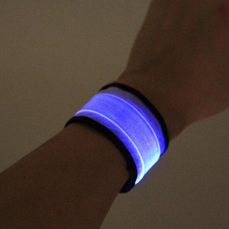 Adults Men LED Blinking Ring Wristband Flashing Glowing Bracelet Bangle Bar Nightclub Glow Party Halloween Christmas