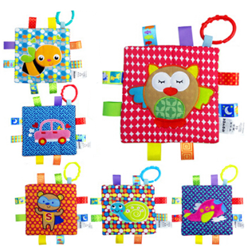 Creative Newborn Baby Cute Cartooon Appease Towel Grasping Soft Comforting Doll Infant Toys Baby Hand Towel Rattle Toys 6 Style