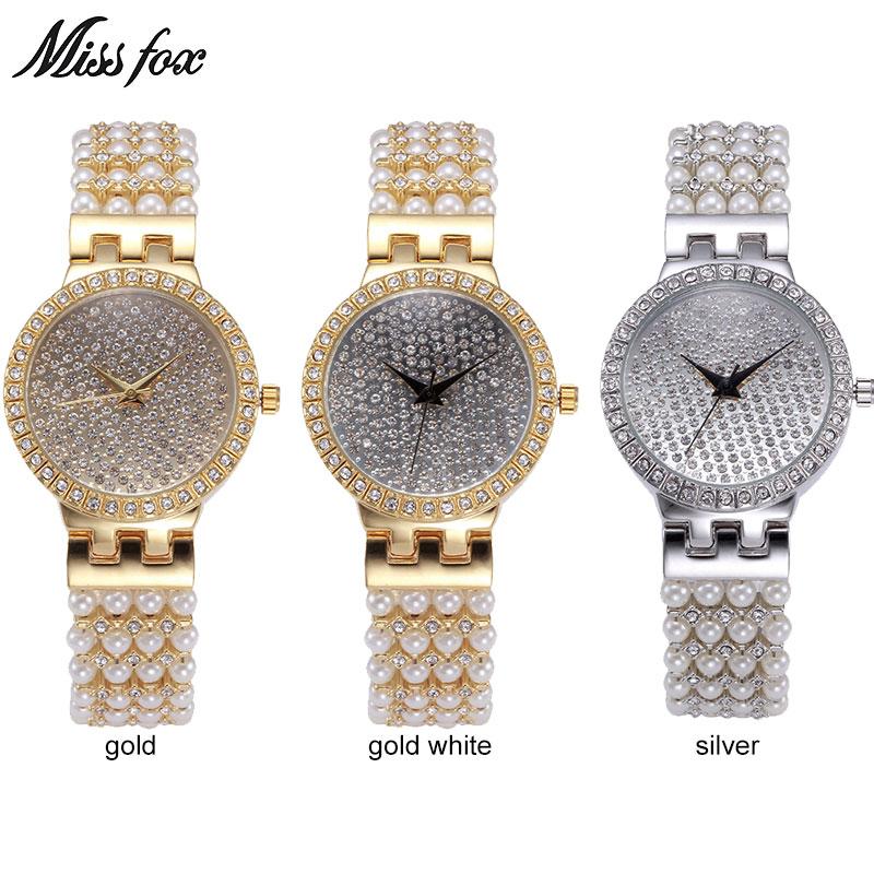 MISSFOX Miss Fox Luxe dameshorloges Zilveren armband dameshorloge - Dameshorloges - Foto 4