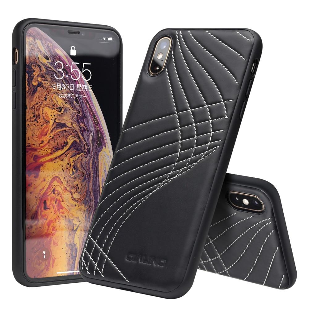 Qialino тонкий кожаный назад чехол для iPhone XS MAX элегантный стильный чехол для телефона для iPhone XS MAX ультра тонкий