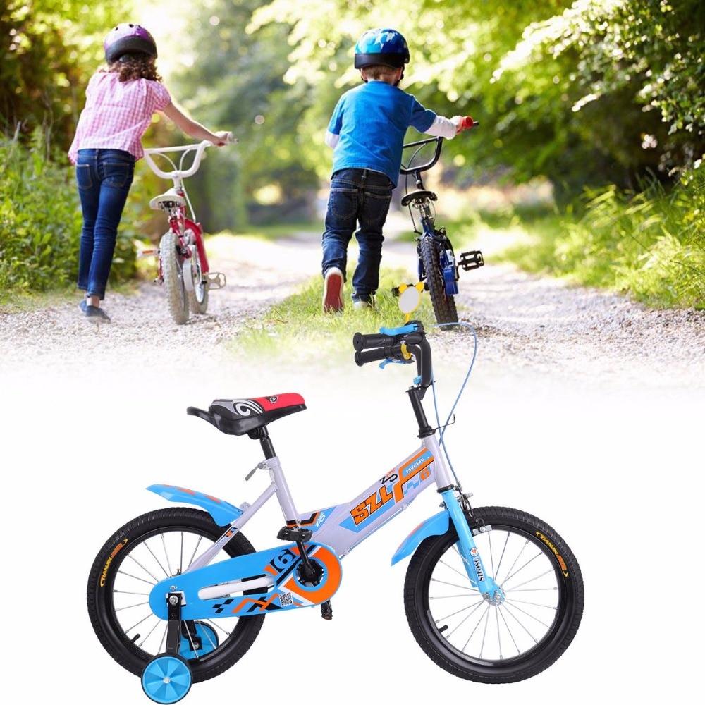 (Shipping From DE ) 16 Blue Bicycle Child Bike Cycling Sport for Boys Girls 7 to 12 Years veobike men long sleeves hooded waterproof windbreak sunscreen outdoor sport raincoat bike jersey bicycle cycling jacket