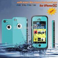Miễn phí vận chuyển chất lượng Cao 100% túi Chống Thấm Nước Chống Sốc Gel Touch Screen Trường Hợp Bìa Đối Với Apple iPhone 5C với gói bán l
