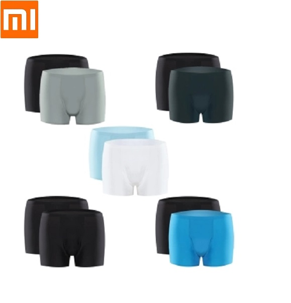 Xiaomi 2pcs Air sensation mens underwear superfine fiber Light and breathable 3D No trace Pants Four corners shortsXiaomi 2pcs Air sensation mens underwear superfine fiber Light and breathable 3D No trace Pants Four corners shorts