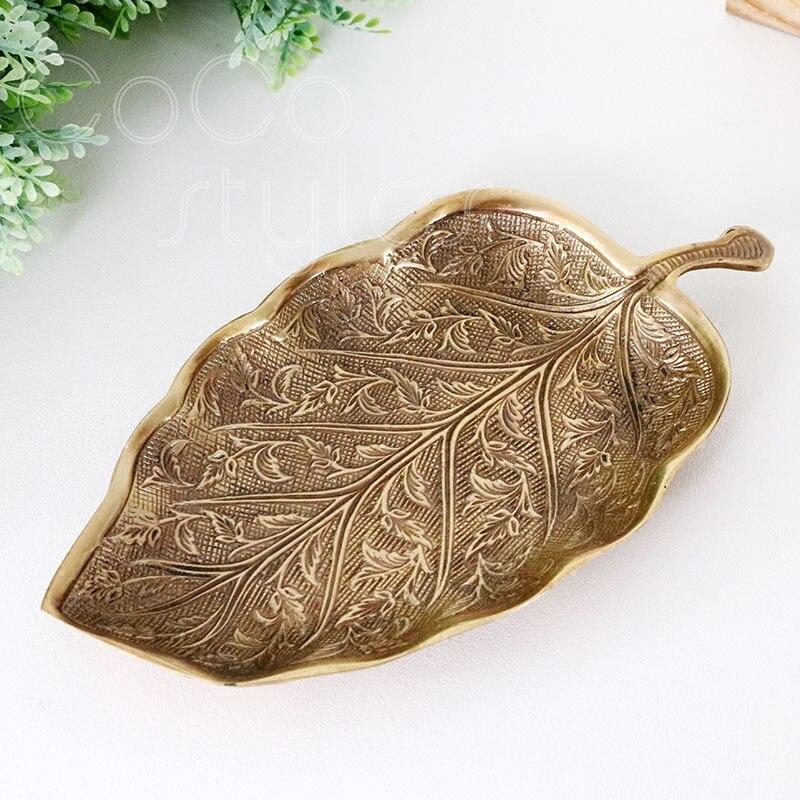 Cocostyles InsFashion top qualité fait en forme de feuille ancienne plat en laiton fait à la main pour bijoux affichage plat et coffrets cadeaux