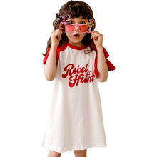 цена на Cotton Girls Dress Summer Princess Party Frocks Casual White Dress for Big Girl age 4 5 6 7 8 9 10 11 12 14 Children Clothing