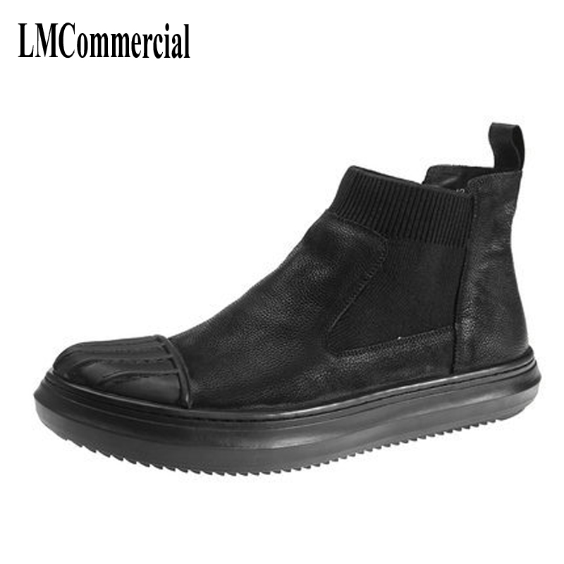 Europe high men shoes leather shoes trend of Korean male head shell retro matte Martin boots men boots europe martin boots male trend of korean in autumn and winter in men shoes chelsea leather boots british retro men casual boots