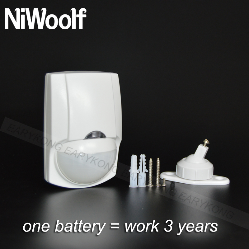 Image 2 - 1 battery = work 3 years , Wireless Passiive Infrared Motion Detector, 433MHz Sensor Alarm, 8 pieces include, Wholesale price,-in Sensor & Detector from Security & Protection