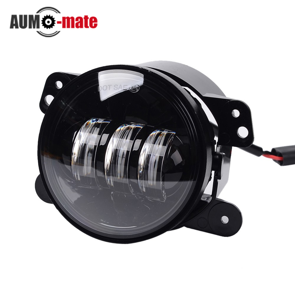 ФОТО 4 inch Led Front Bumper Fog Light 30W Round Driving Lights for Exterior Light 4WD Fog Lamps