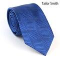 Tailor Smith Mens Royal Blue Designer Tie Pure Silk Luxury Necktie Top Quality Mens Wedding Dress Suit Formal Handmade Cravat