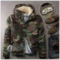 2015 Новое Прибытие Зима И Весна Женщины Куртка Камуфляж Моды Новый Дизайн Теплый Овечьей Шерсти Женщин