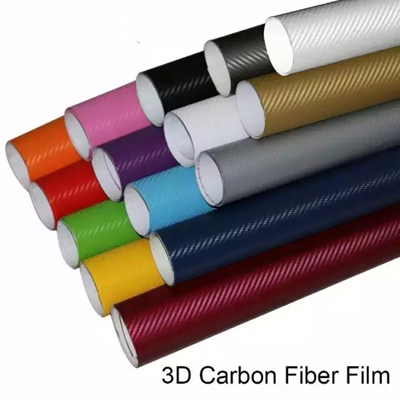 1.52x3 m 3D Fiber de carbone vinyle voiture papier d'emballage en Fiber de carbone voiture décoration autocollant voiture style décoration Air bulle gratuit