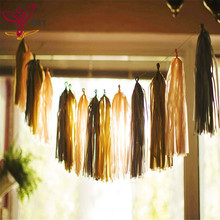 35cm Colourful Tissue Paper Tassel Garland DIY Wedding Decorations Happy Birthday Decoration Event Pack