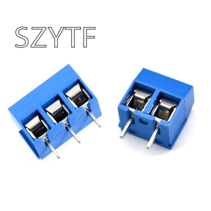 KF301 2P 3P Circuit Board Welding Terminal PCB Terminal Spacing 5.0mm 100PCS