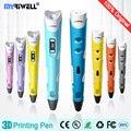 myriwell 3d pen 3d pens,LED display,ABS/PLA Filament,pen 3d model Children gifts Smart 3d printer pen-3d magic pen Free to send