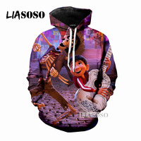 LIASOSO Mens Womens Hoodie Movie COCO Casual Long Sleeve Hoodie 3D Print Hoodie Casual Fashion Top Clothing DropShipping