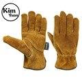 Ким Юань  Водонепроницаемые кожаные рабочие перчатки  5 пар  перчатки для садоводства  сверхпрочные перчатки для садоводства  рыбалки