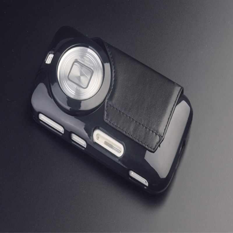 Pour Samsung Galaxy K Zoom étui 100% d'origine Gel souple couverture arrière avec cuir PU pour C1158 C1116 livraison gratuite