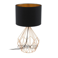 T Simple Warm Golden Table Lamps Retro Creative American Style Lighting For Bedroom Foyer Hotel Diameter55&70cm With LED Bulb
