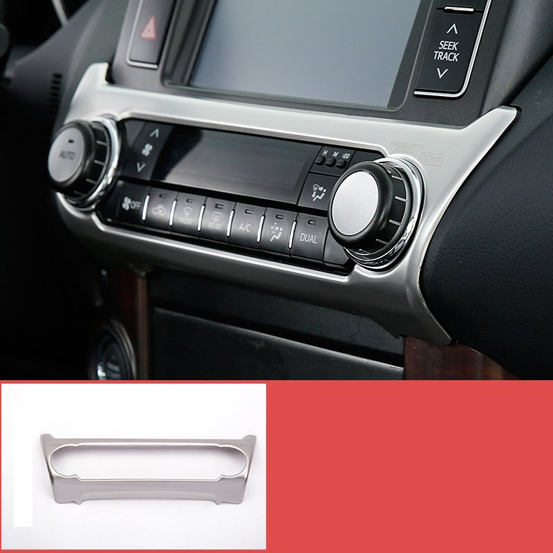lsrtw2017 stainless steel car air condtioner panel trims for toyota land cruiser prado 2010 2011 2012 2013 2014 2015 2016 2017
