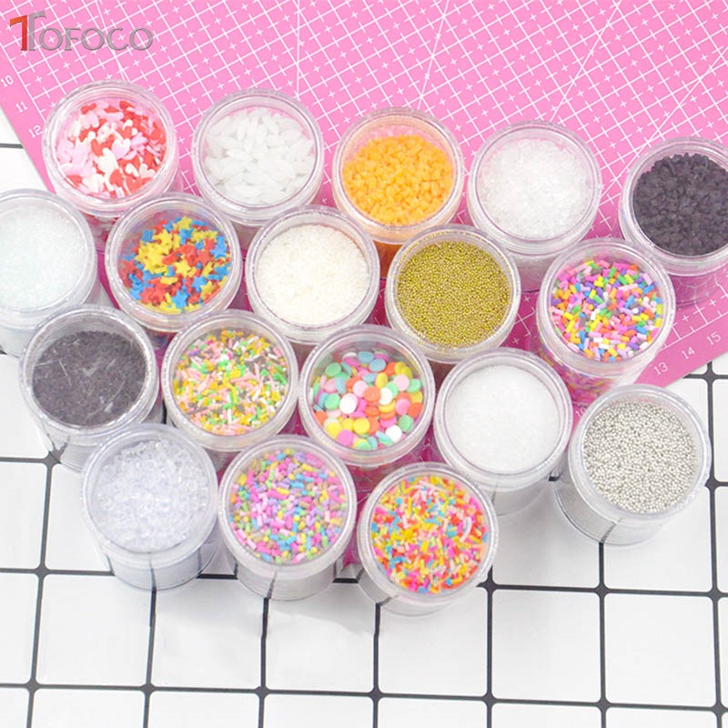 100g Additives In Slime Sprinkles For Diy Slime Filler Addition Accessories Clay Fluffy Slime Supplies Beads Cake Dessert Mud Toys & Hobbies
