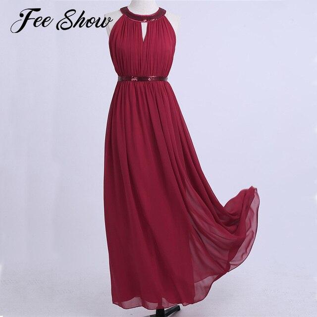 Burgundy Women Bridesmaid Long Maxi Dress Long Gowns De Verao ...