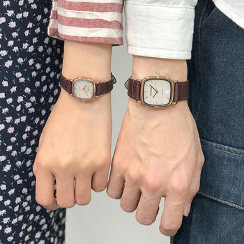 Leather Band Bracelet Anqitue Bangle Watches Reloj 1