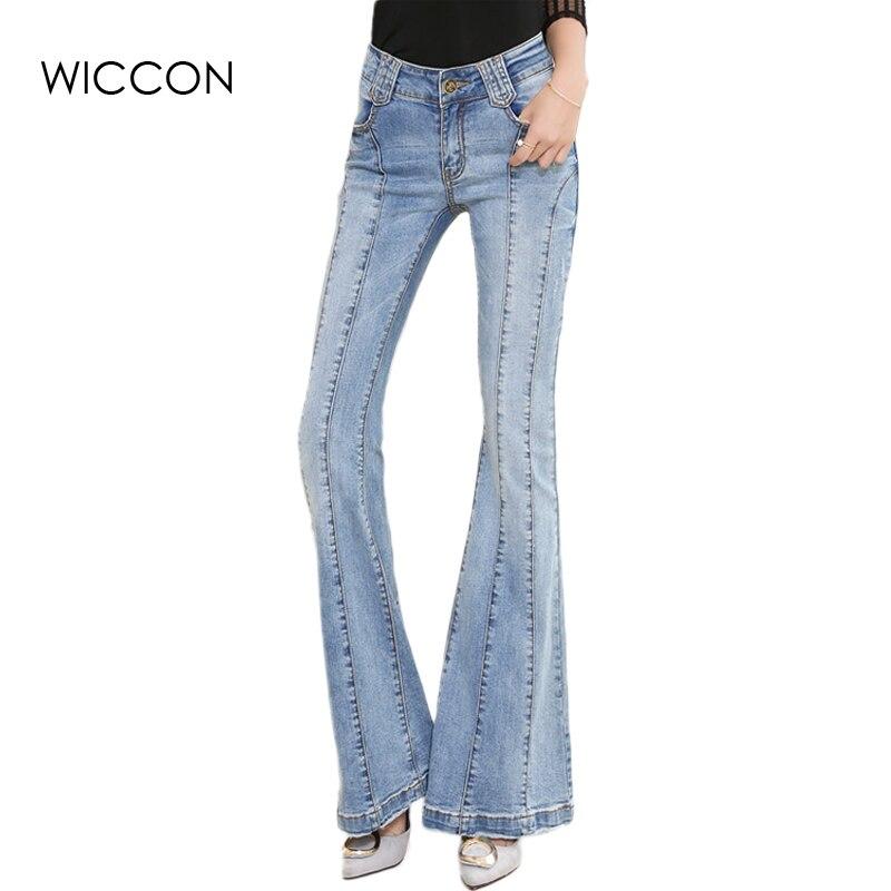 3a795954c1645 Moda mamá Jeans Mujer Vaqueros cintura alta Bell Fondo Pantalones mujer  pantalones de denim vintage pantalones de pierna amplia flare vaqueros en  Pantalones ...