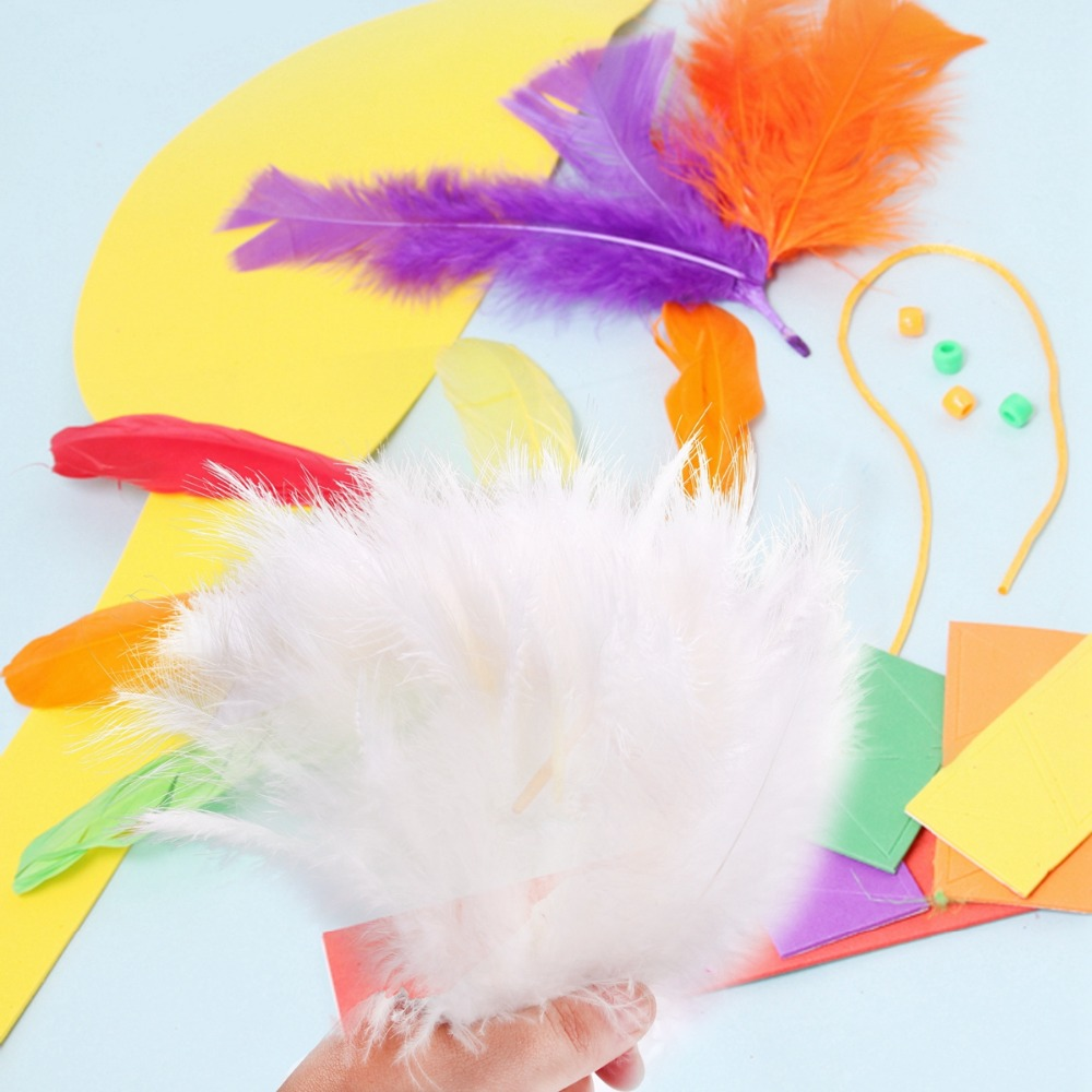 FENGRISE 200PCS Rooster Tail Pheasant Feathers Wedding Table ...
